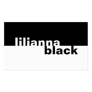 311-Boldly stark vereinfachtes Schwarzes Visitenkarte