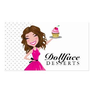 311 Dollface Nachtisch-Schokoladenkuchen Visitenkarten Vorlage