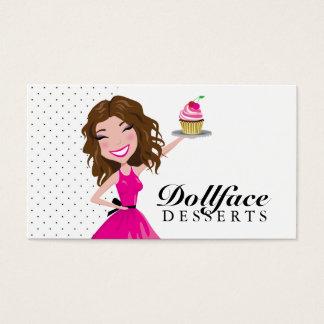 311 Dollface Nachtisch-Schokoladenkuchen Visitenkarte