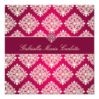 311 Gabriella-Pink u. MaroonDamask Einladung