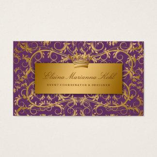 311-Golden erahnen die lila Aubergine Visitenkarte