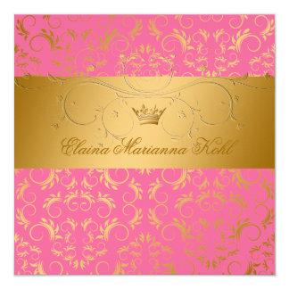 311-Golden erahnen Erdbeergebrannten Bonbon 16 Quadratische 13,3 Cm Einladungskarte