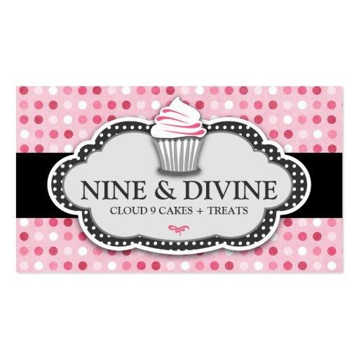 311 göttliche rosa Tupfen-kleine Kuchen Visitenkarte