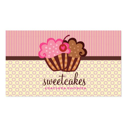 311 punktiert der süße Kuchen-kleine Kuchen Visitenkartenvorlagen