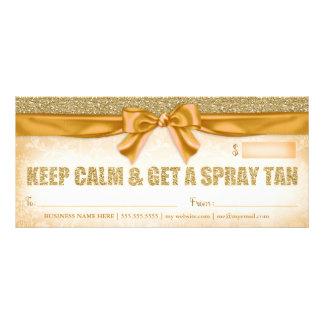 311 Spray-TAN-Geschenkgutschein Personalisierte Werbekarte