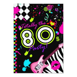 311 total das 80er Party 12,7 X 17,8 Cm Einladungskarte