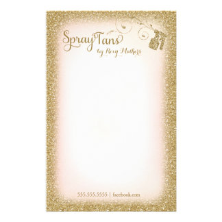 311 Vitage bezauberndes Spray-TAN-Briefpapier Personalisiertes Büropapier