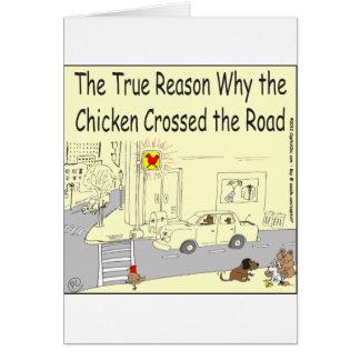 315 warum Huhn den Straßen-Cartoon kreuzte Karte