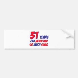 31 Jahre alte Geburtstagsentwurf Autoaufkleber