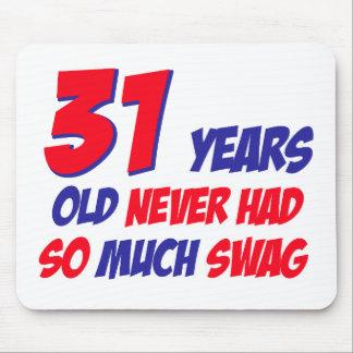 31 Jahre alte Geburtstagsentwurf Mousepad