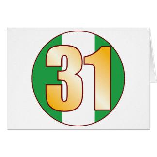 31 NIGERIA Gold Karte