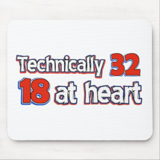 32 Jahre alte Geburtstagsentwürfe Mousepad