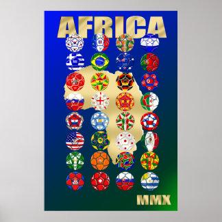 32 qualifizierende Länder für Südafrika 2010 MMX Posterdrucke