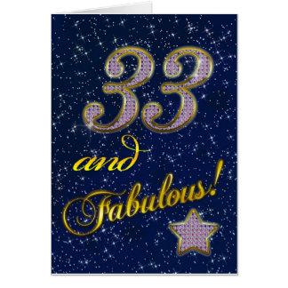 33. Geburtstag Fu0026#252;r Jemand Fabelhaft Karte