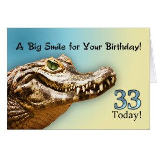 33. Geburtstags-Karte Karte