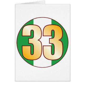 33 NIGERIA Gold Karte