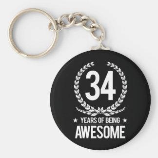 34. Geburtstag (34 Jahre des Seins fantastisch) Schlüsselanhänger