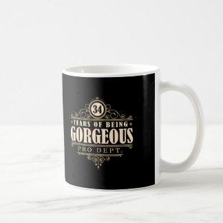 34. Geburtstag (34 Jahre des Seins herrlich) Kaffeetasse
