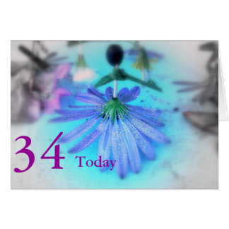 34. Geburtstag Karte