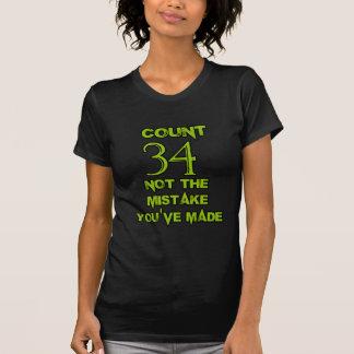 34 Geburtstags-Entwurf T-Shirt