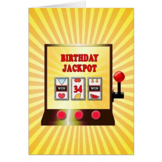34. Geburtstags-Spielautomatkarte Karte