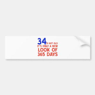 34 Jahre alte Geburtstagsentwürfe Autoaufkleber