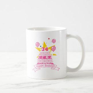 34 Jährig-Geburtstags-Kuchen Kaffeetasse