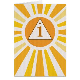 3525 12 Schritt-Erholungs-Symbol-1. Jahrestag Karte