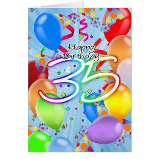 35. Geburtstag - Ballon-Geburtstags-Karte - Grußkarte