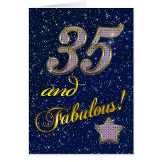 35. Geburtstag für jemand fabelhaft Karte