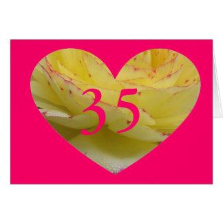 35. Geburtstag Karte