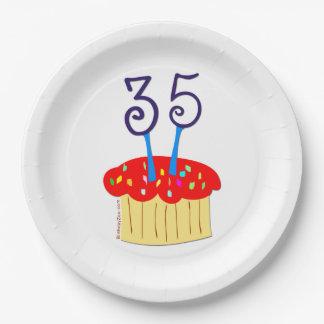 35. Geburtstag Pappteller