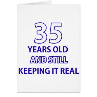 35-Geburtstags-Entwurf Karte