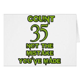 35 Geburtstags-Entwurf Karte