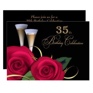 35. Geburtstags-Feier-Gewohnheits-Einladungen Karte