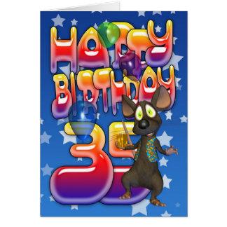35. Geburtstags-Karte, alles Gute zum Geburtstag