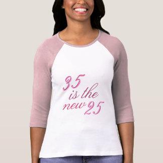 35. Geburtstags-Witz 35 ist die neuen lustigen 25 T-Shirt