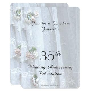 35. Hochzeits-Jahrestags-Party, Vintage Spitze Karte