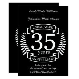 35. Hochzeitstag JADE/KORALLE Karte