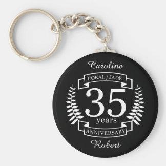 35. Hochzeitstag JADE/KORALLE Schlüsselanhänger