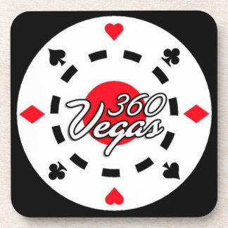 360 Vegas Chip-Logo-Getränk-Untersetzer Getränkeuntersetzer