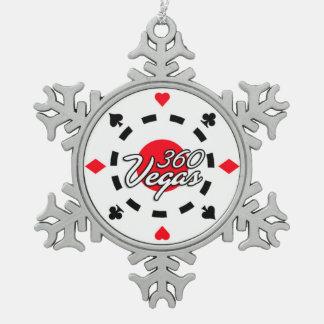 360 Vegas Schneeflocke-Verzierung Schneeflocken Zinn-Ornament