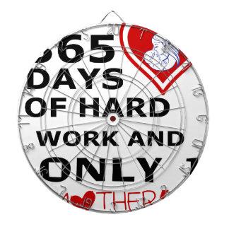 365 Tage der harten Arbeit und nur 1 Mutter-Tages Dartscheibe
