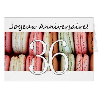 36. Französischer Geburtstag Macaron-Joyeux Karte