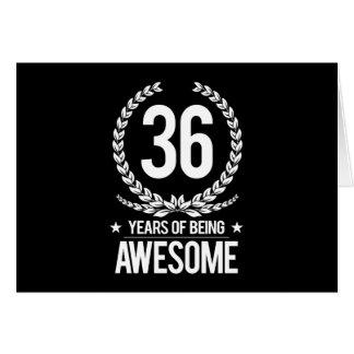 36. Geburtstag (6 Jahre des Seins fantastisch) Karte