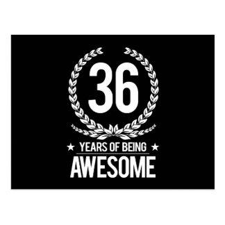 36. Geburtstag (6 Jahre des Seins fantastisch) Postkarte