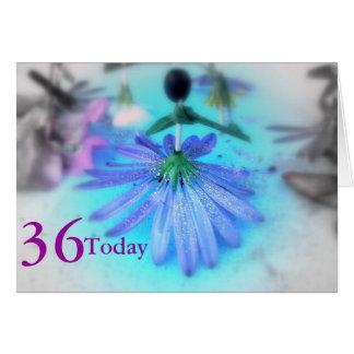 36. Geburtstag Karte