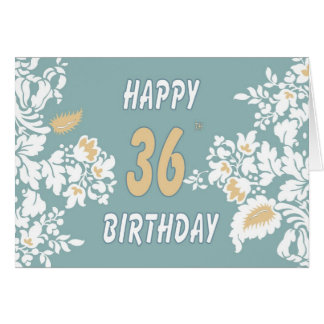 36. Geburtstags-beste Wünsche Karte
