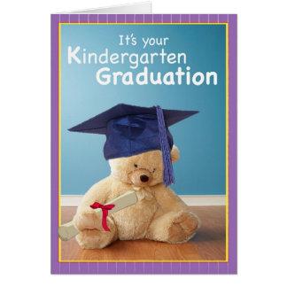 3734 Kindergarten-Abschlussteddy-Bär Karte