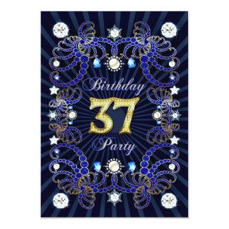 37. Geburtstags-Party laden mit Massen der Juwelen Einladung